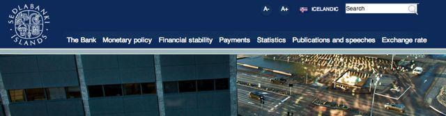Banque centrale Islande