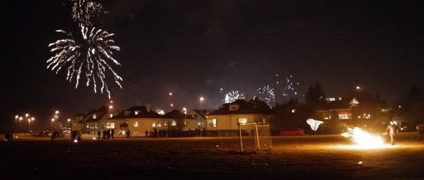 feux d'artifice en islande