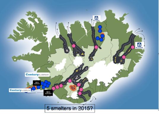 nature en islande et barrages
