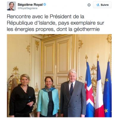 Ségolène Royal en Islande