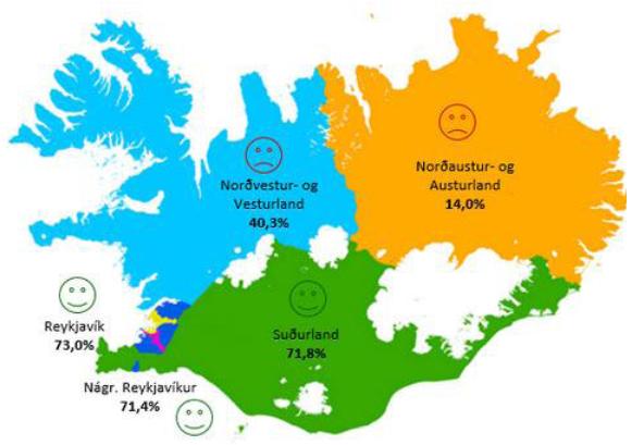 carte météo islande