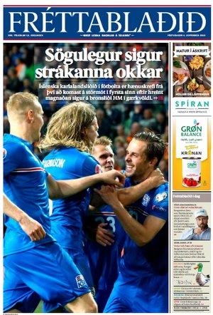 frettabladid équipe football islande