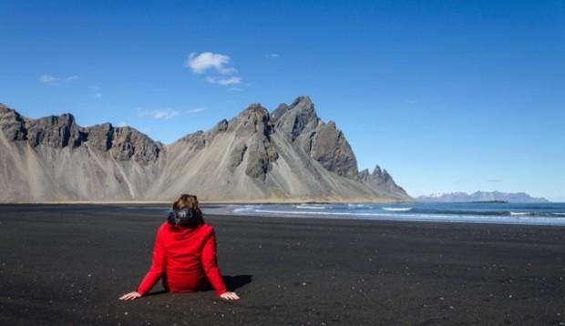plage de sable noir islande