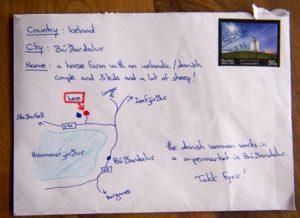 une lettre sans nom en islande