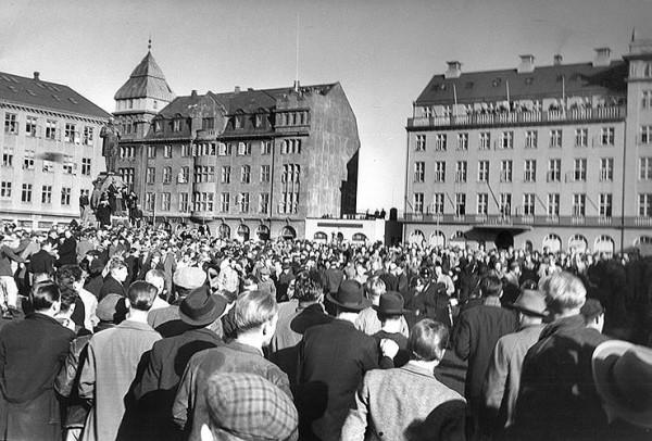 Manifestation anti OTAN (1949) / © Morgunblaðið