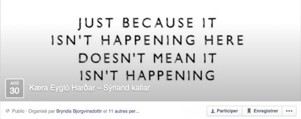 page facebook Islande/Syrie