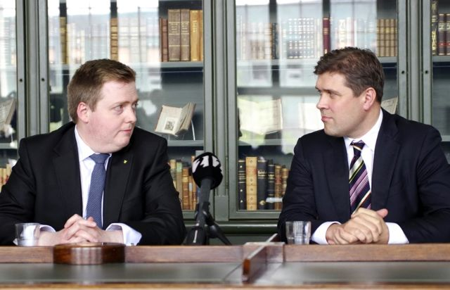 Sigmundur David Gunnlaugsson et Bjarni Benediktsson